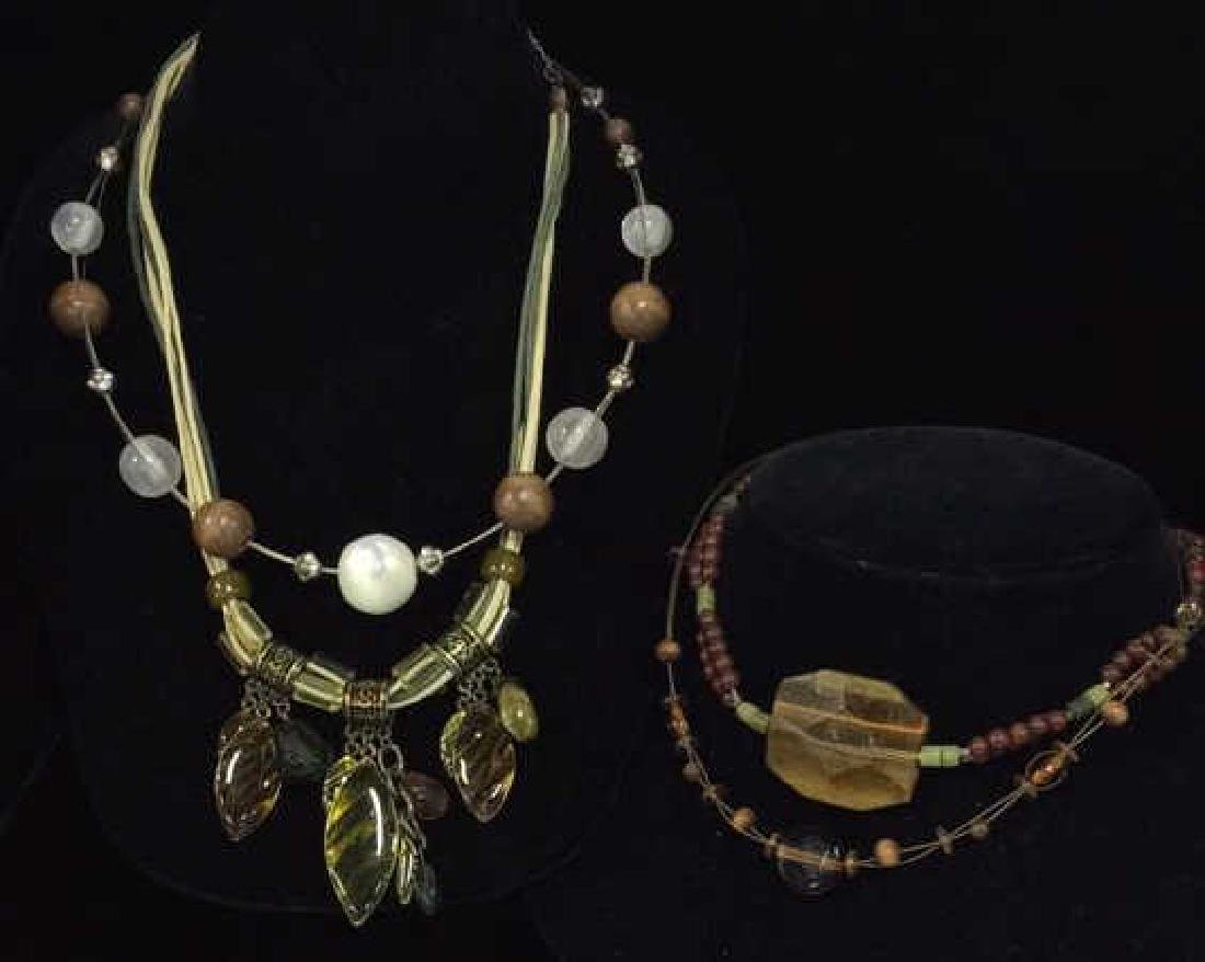 Lot 4 Beaded Necklaces Estate Costume Jewelry