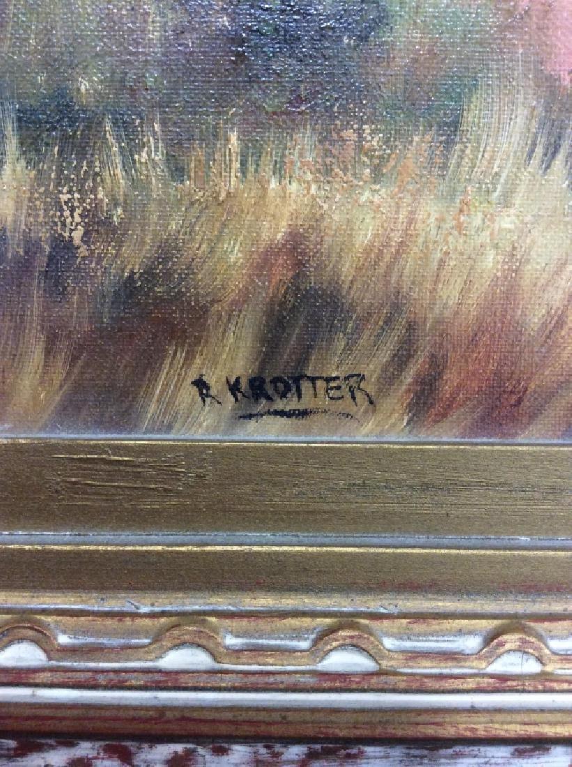 R Krotter Signed c1890s Dutch Landscape Painting - 5