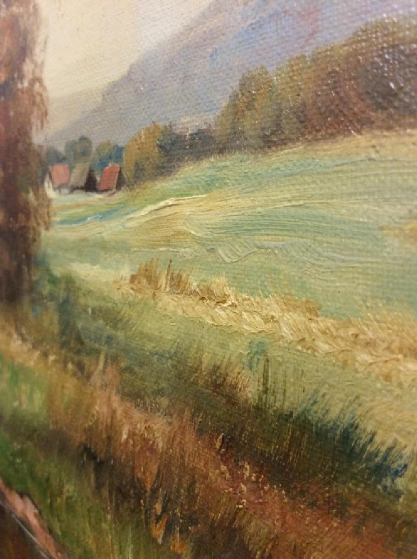 R Krotter Signed c1890s Dutch Landscape Painting - 8