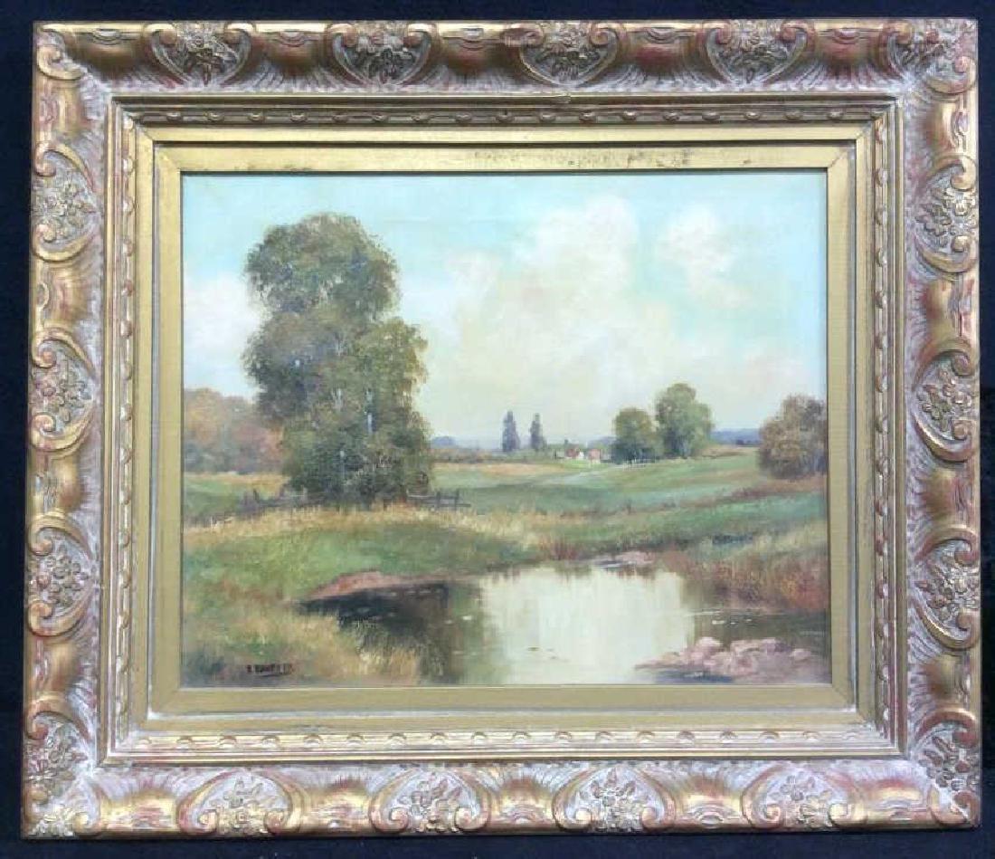 R Krotter Signed c1890s Dutch Landscape Painting