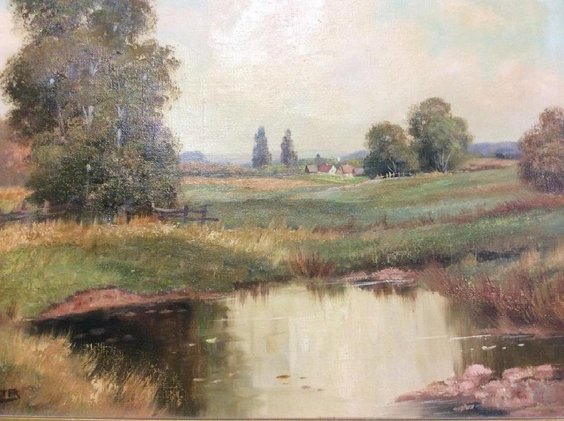 R Krotter Signed c1890s Dutch Landscape Painting - 2