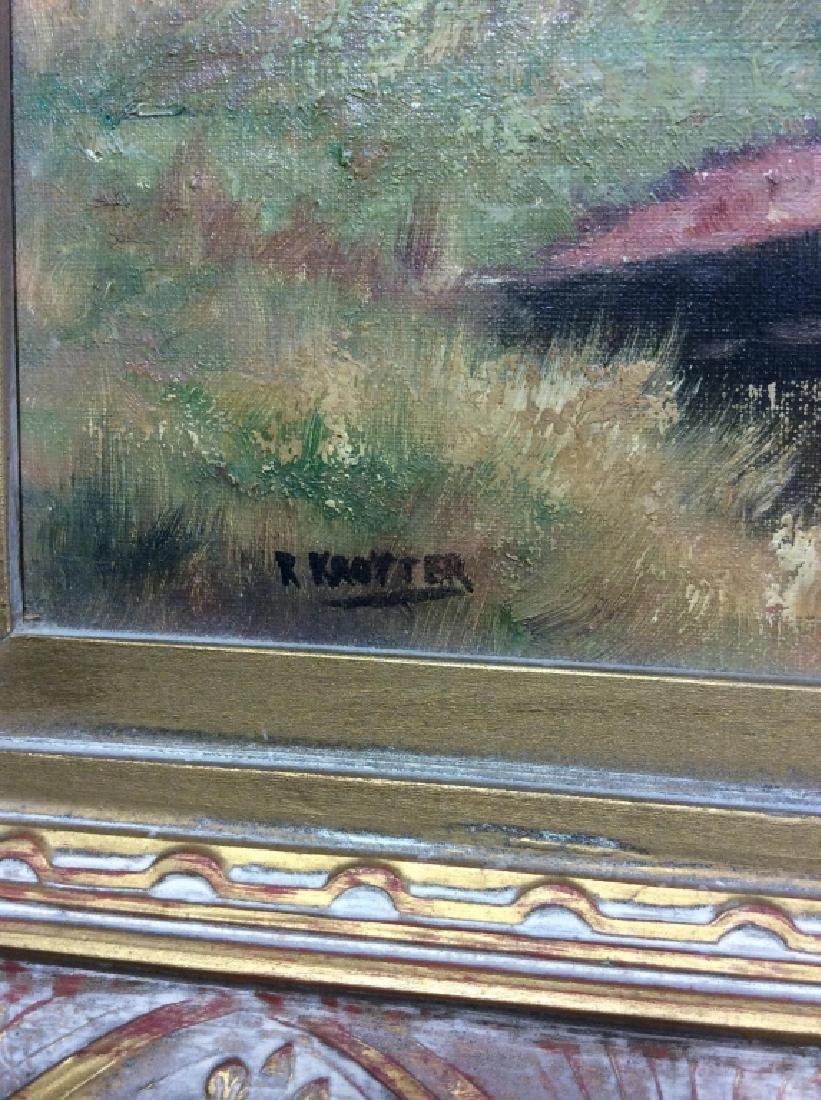 R Krotter Signed c1890s Dutch Landscape Painting - 4