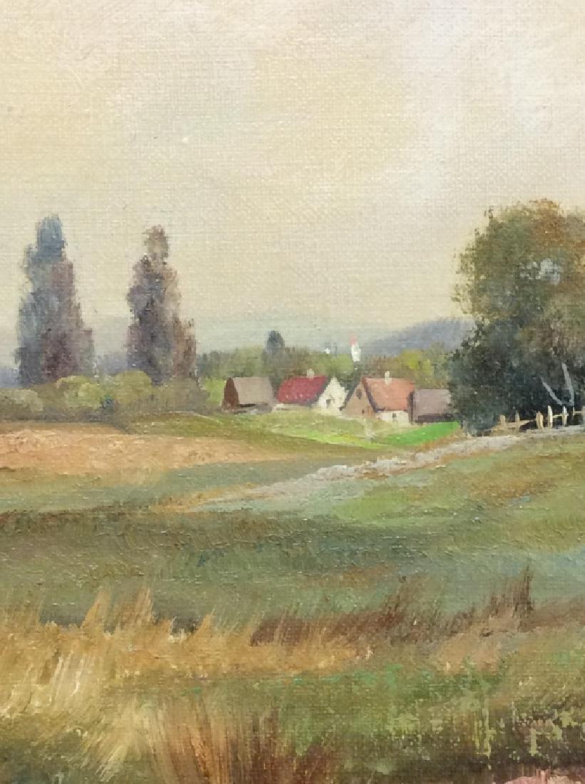 R Krotter Signed c1890s Dutch Landscape Painting - 6