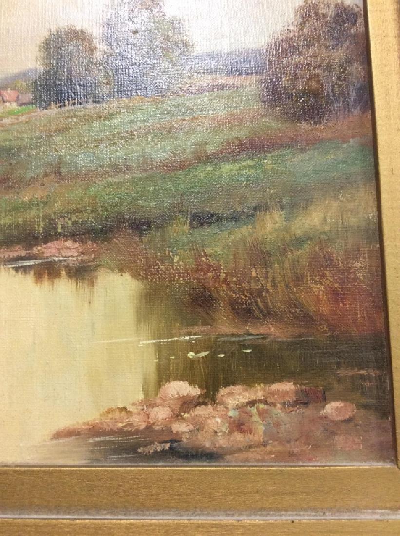 R Krotter Signed c1890s Dutch Landscape Painting - 7