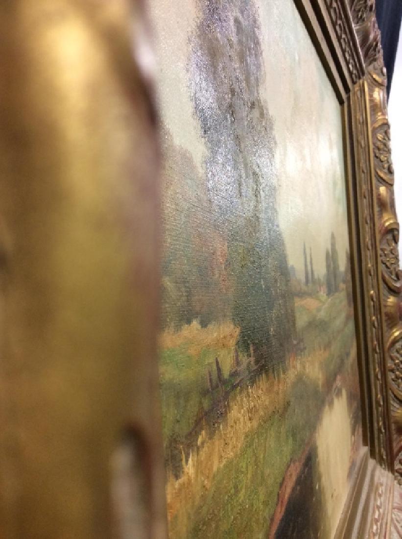 R Krotter Signed c1890s Dutch Landscape Painting - 9