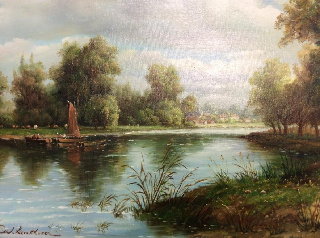Signed/Framed Landscape Painting - 2