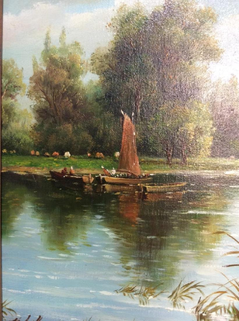 Signed/Framed Landscape Painting - 4
