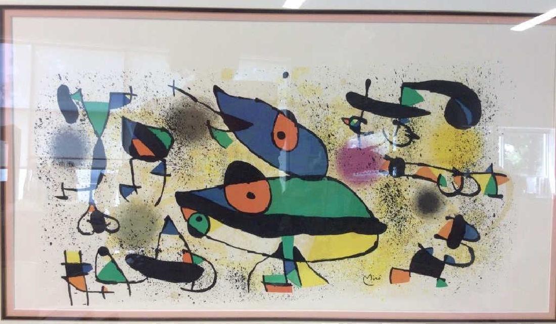 Joan Miró Framed Matted Art  Print - 2