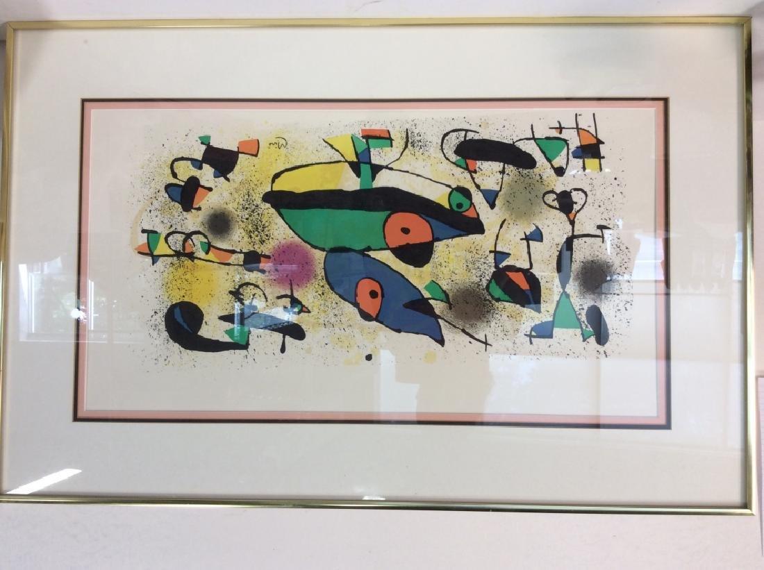 Joan Miró Framed Matted Art  Print - 3