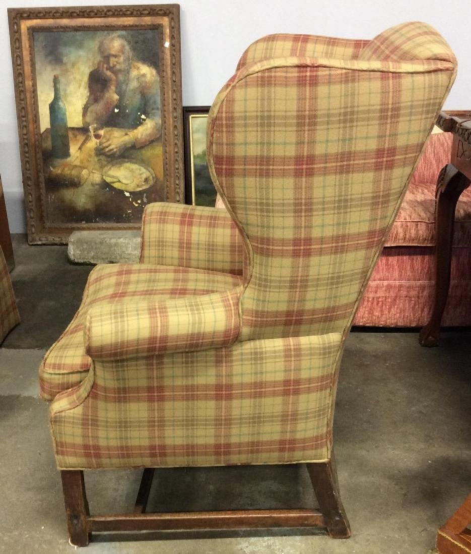 Pair Ralph Lauren Plaid Upholstered Arm Chairs - 6