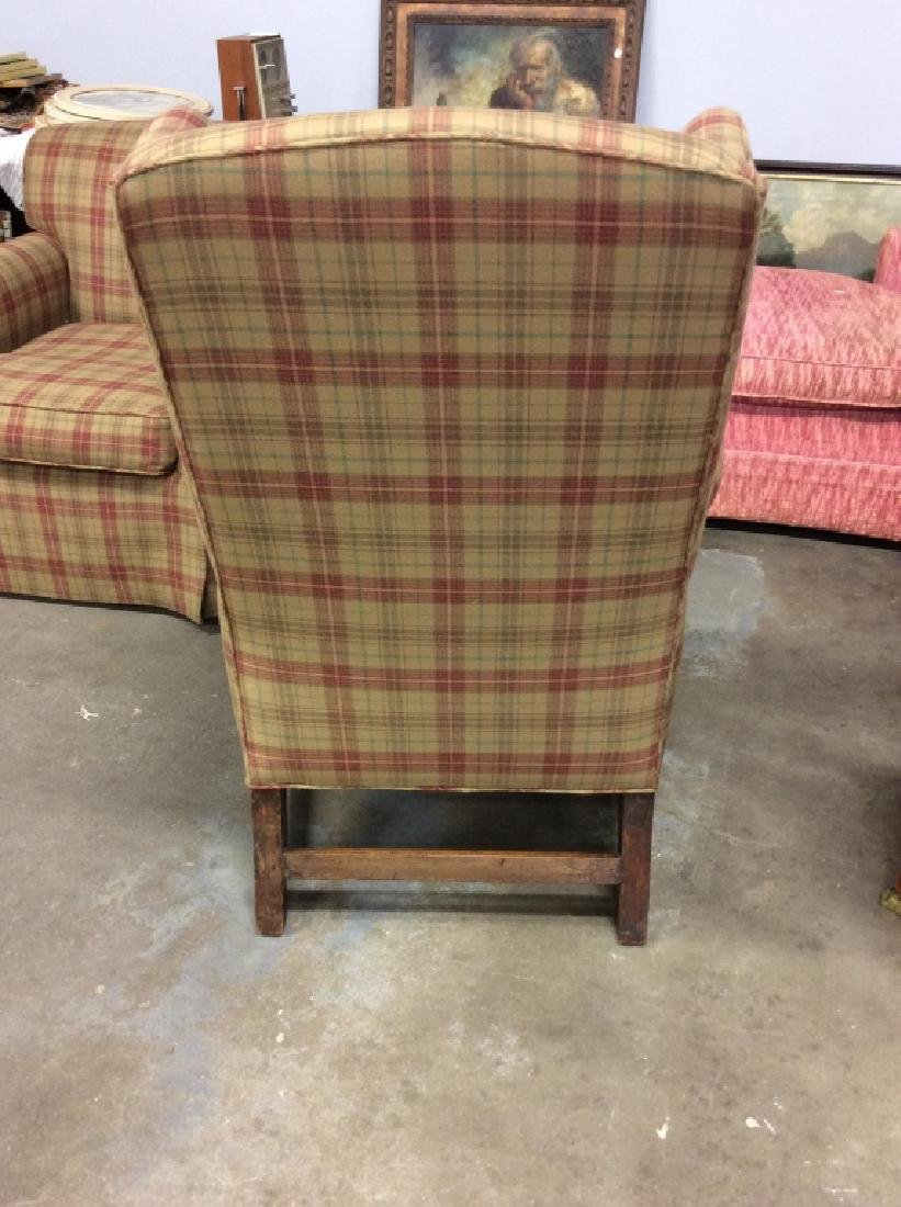 Pair Ralph Lauren Plaid Upholstered Arm Chairs - 7