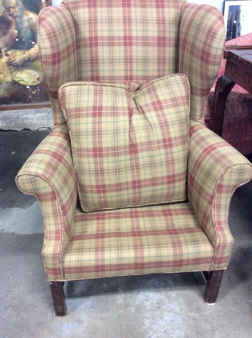 Pair Ralph Lauren Plaid Upholstered Arm Chairs - 9