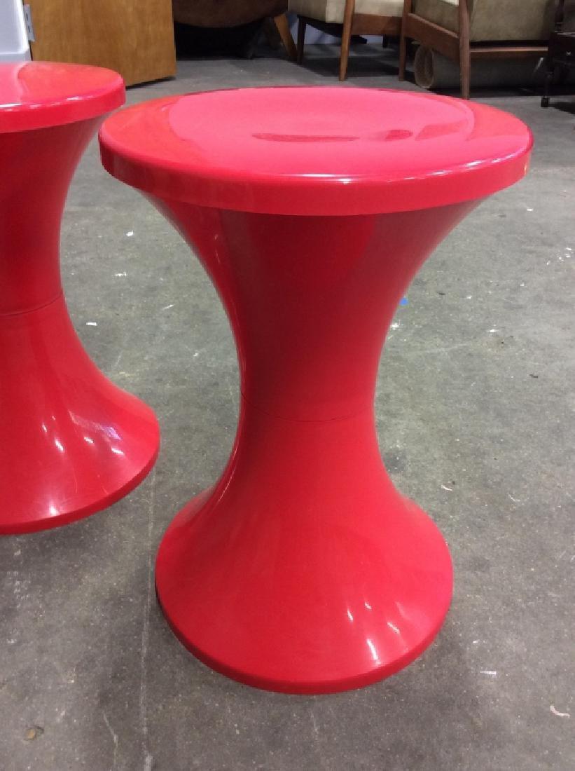Pair French Plastic STAMP NURIEUX Tam Tam Stools - 2