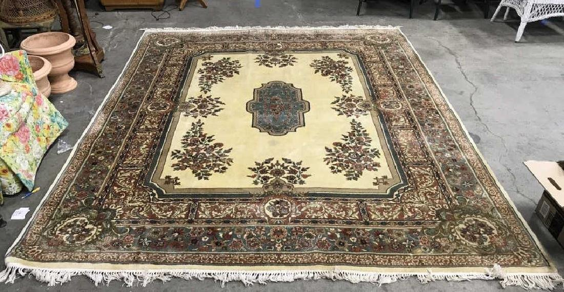 Handmade Floral Detailed Wool Pile Rug