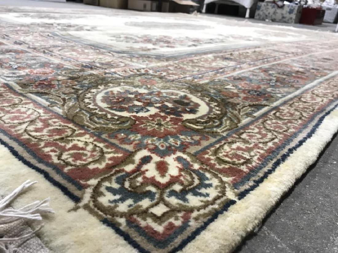 Handmade Floral Detailed Wool Pile Rug - 8