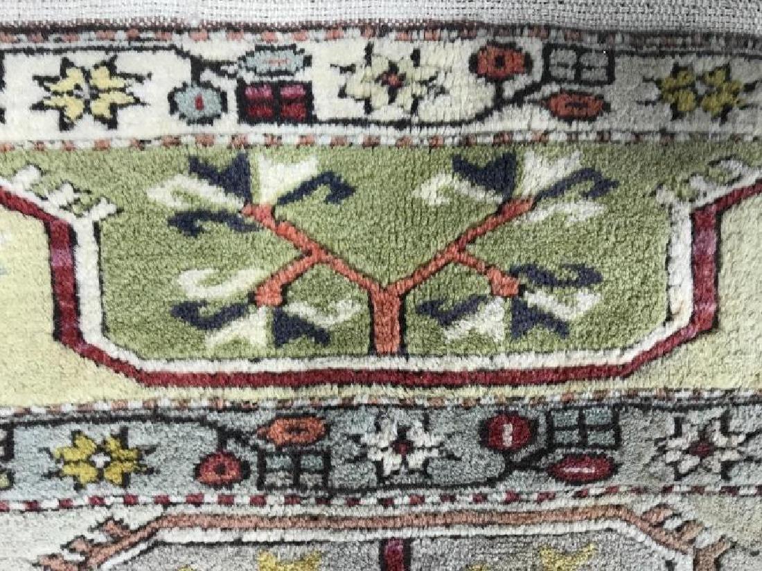 Handmade Geometric & Floral Detailed Wool Rug - 10