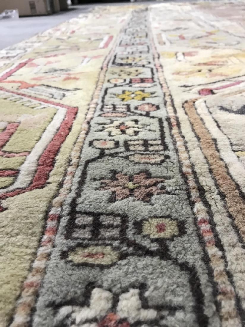 Handmade Geometric & Floral Detailed Wool Rug - 8