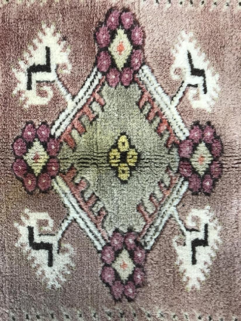 Handmade Geometric & Floral Detailed Wool Rug - 9