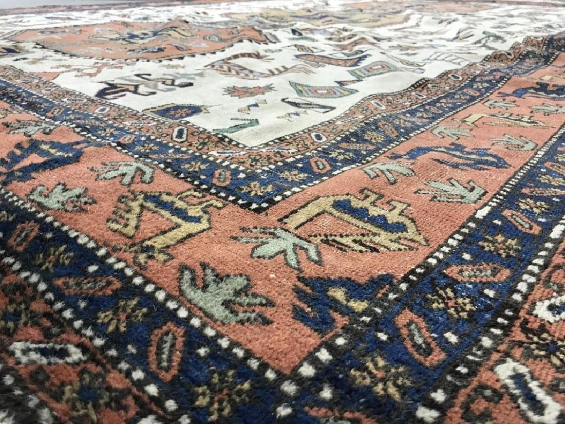 Vintage Handmade Oversized Wool Rug