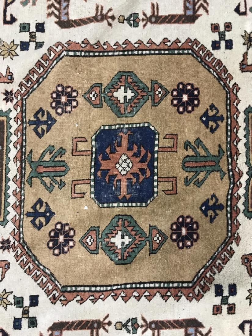 Vintage Handmade Oversized Wool Rug - 3