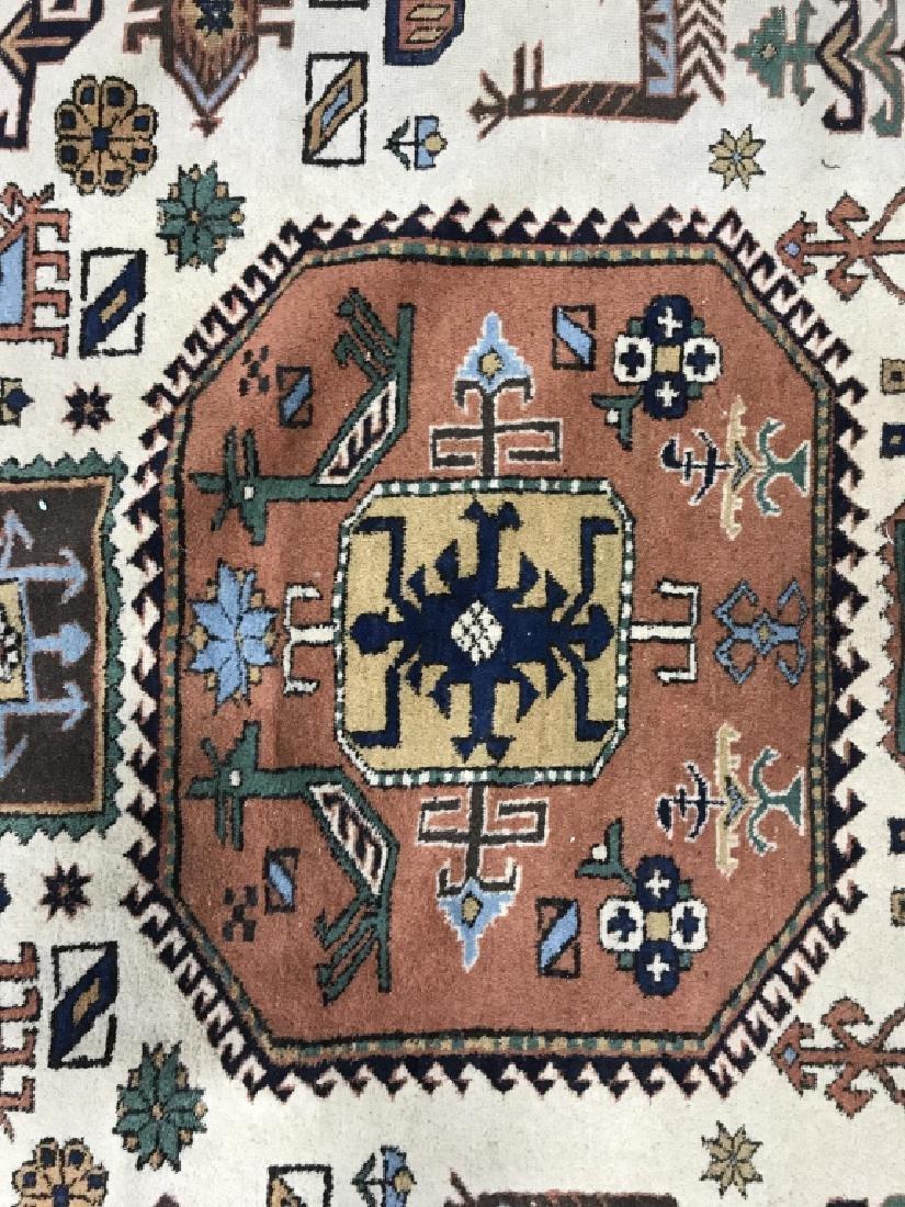 Vintage Handmade Oversized Wool Rug - 4