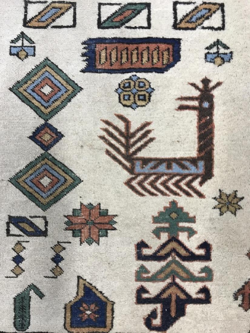 Vintage Handmade Oversized Wool Rug - 6