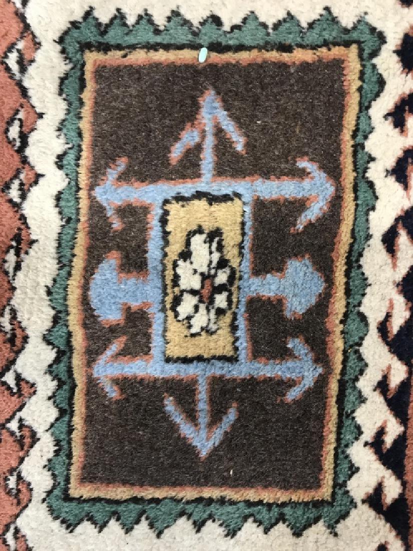 Vintage Handmade Oversized Wool Rug - 7