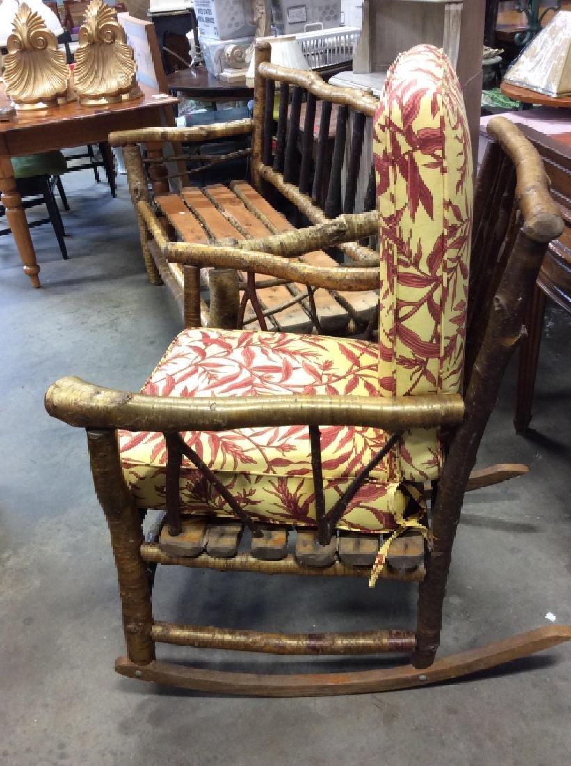 Pair Vintage Adirondack Chair and Sofa - 2