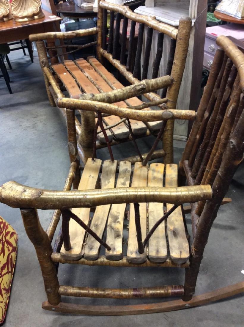 Pair Vintage Adirondack Chair and Sofa - 4
