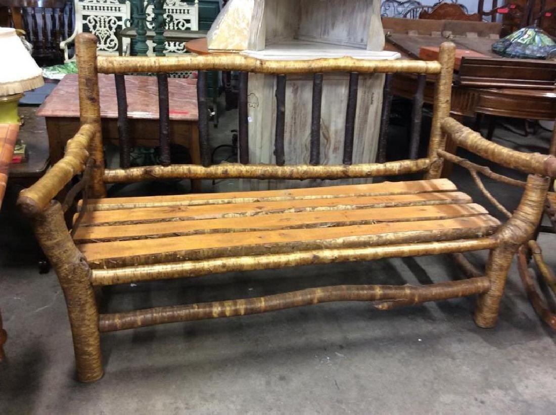 Pair Vintage Adirondack Chair and Sofa - 7