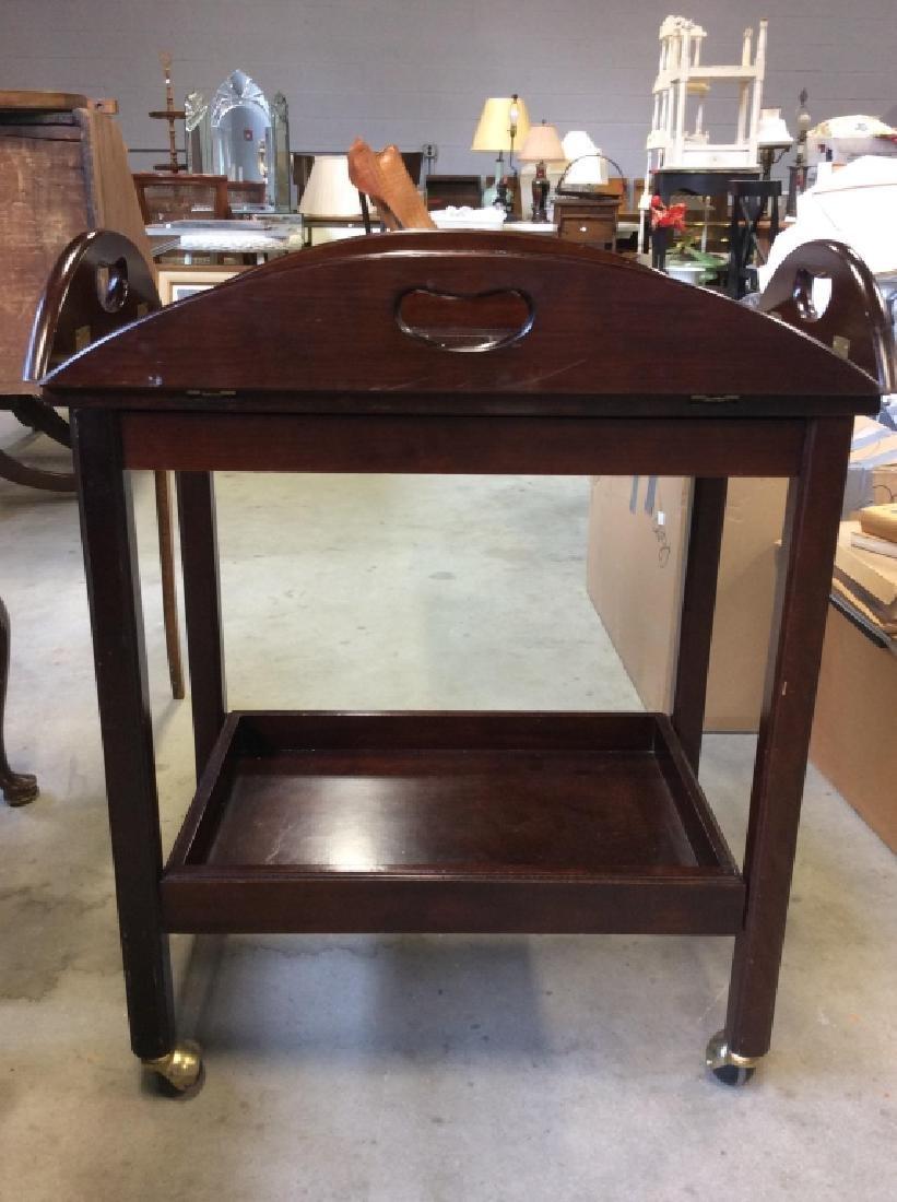 Bombay Pany Butler Tray Table Vintage Tea Cart - 10