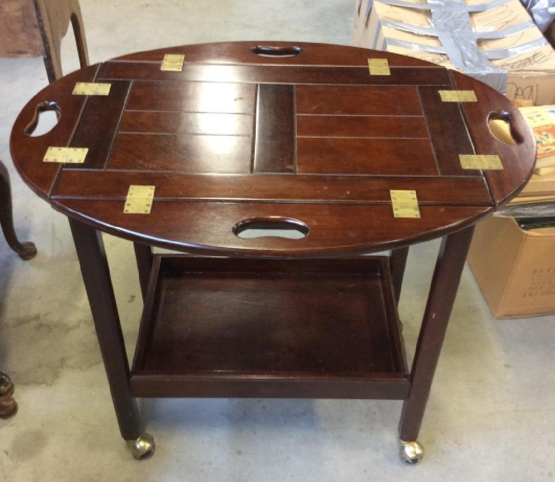 Bombay Pany Butler Tray Table Vintage Tea Cart