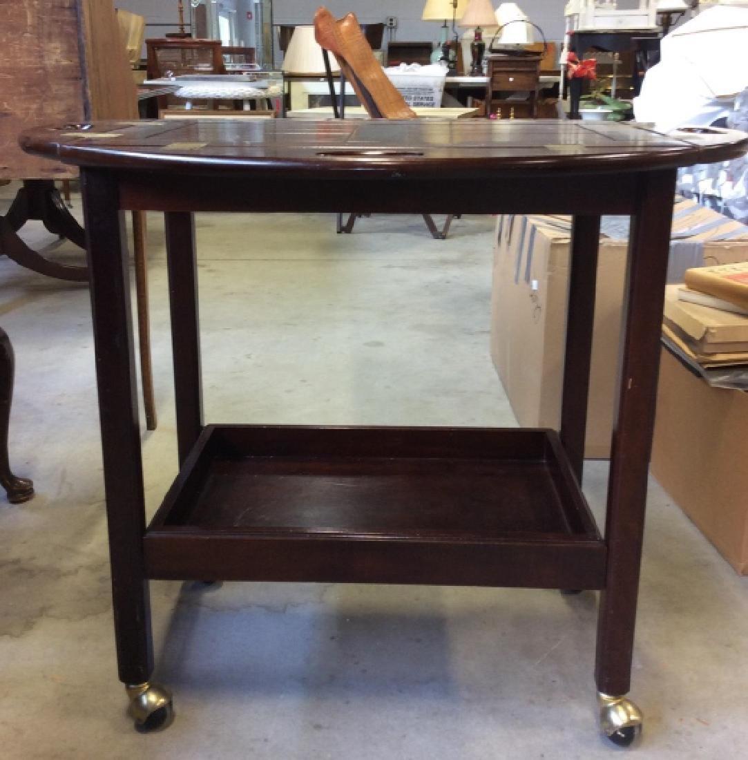 Bombay Pany Butler Tray Table Vintage Tea Cart - 2