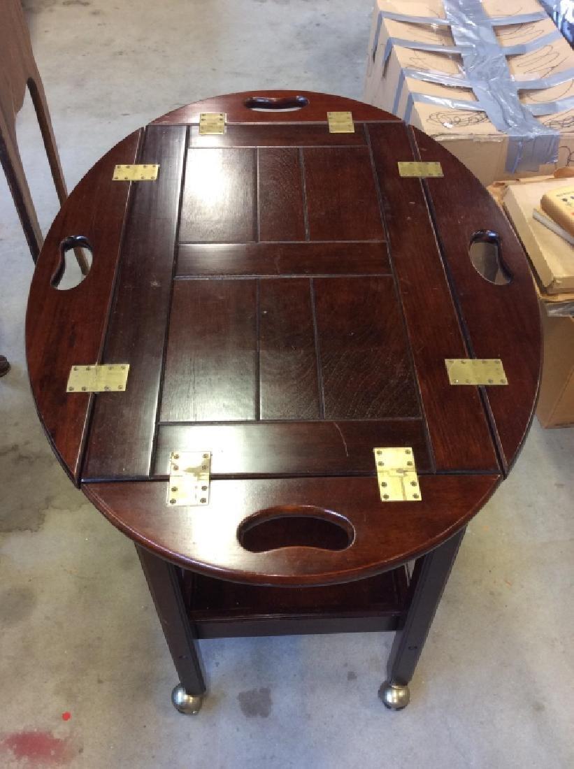 Bombay Pany Butler Tray Table Vintage Tea Cart - 3