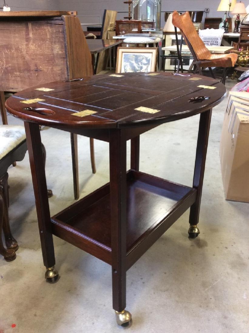 Bombay Pany Butler Tray Table Vintage Tea Cart - 7