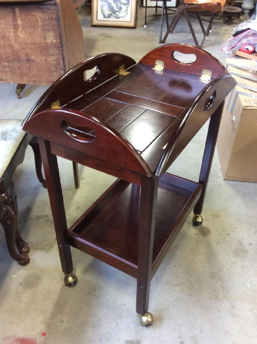 Bombay Pany Butler Tray Table Vintage Tea Cart - 8