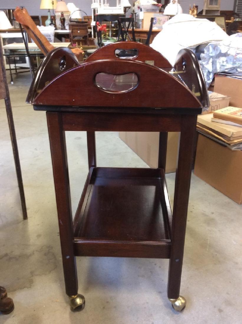 Bombay Pany Butler Tray Table Vintage Tea Cart - 9