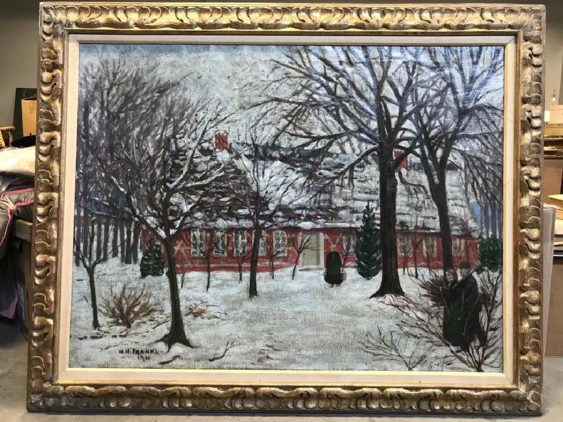 W H FRANKL Framed Oil Painting On Canvas, 1911 - 2