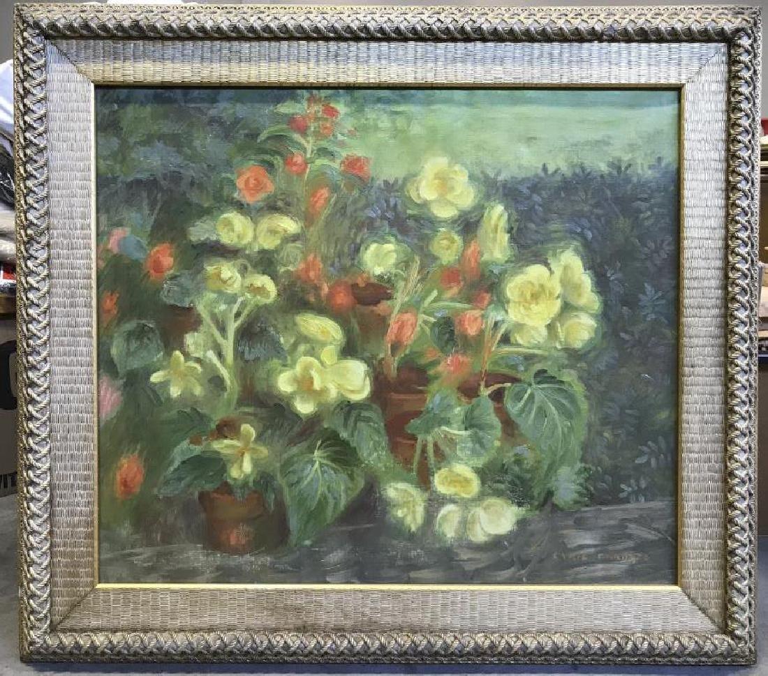 Cyril Gardner Framed Botanical Oil On Canvas