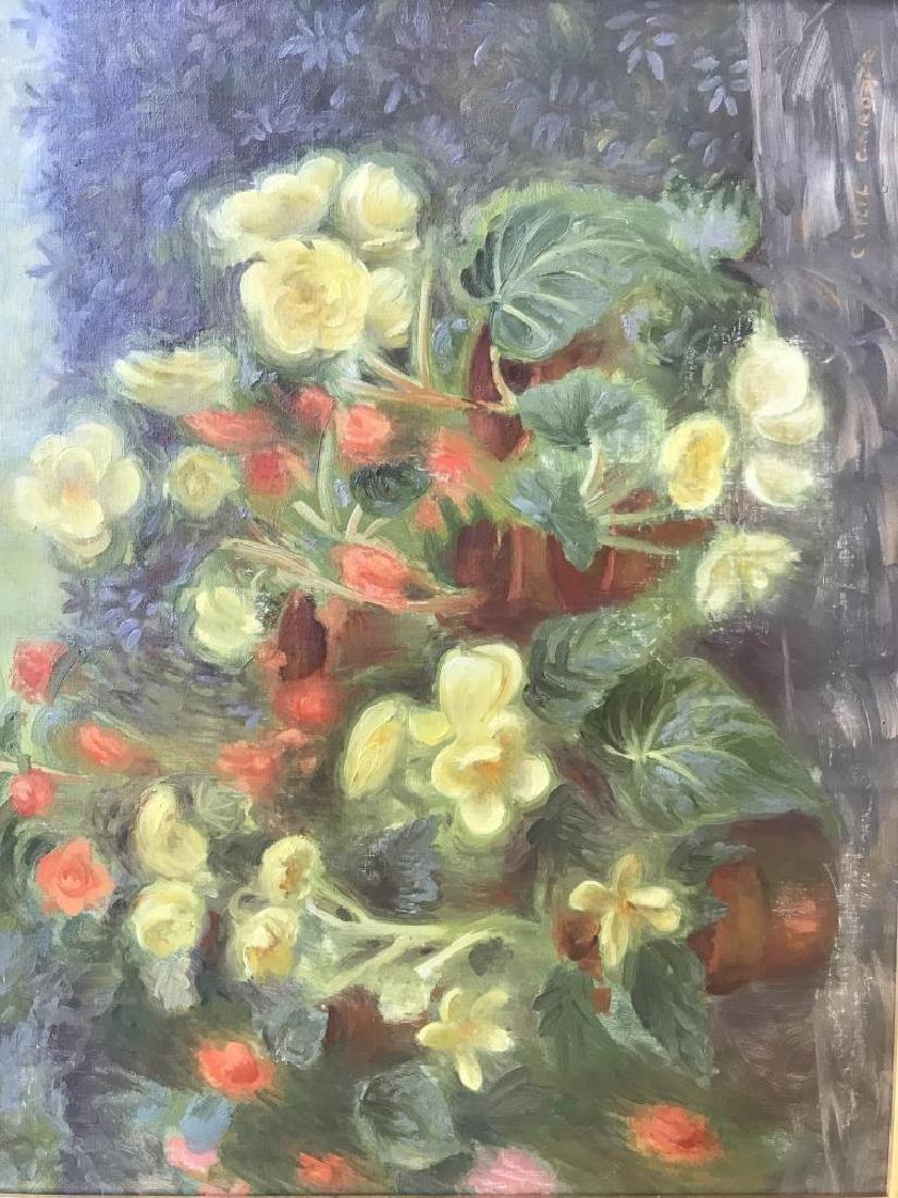 Cyril Gardner Framed Botanical Oil On Canvas - 2