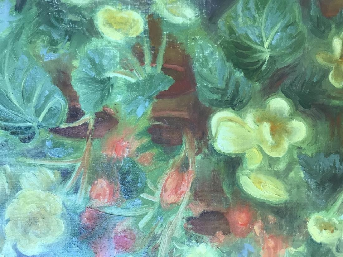 Cyril Gardner Framed Botanical Oil On Canvas - 3