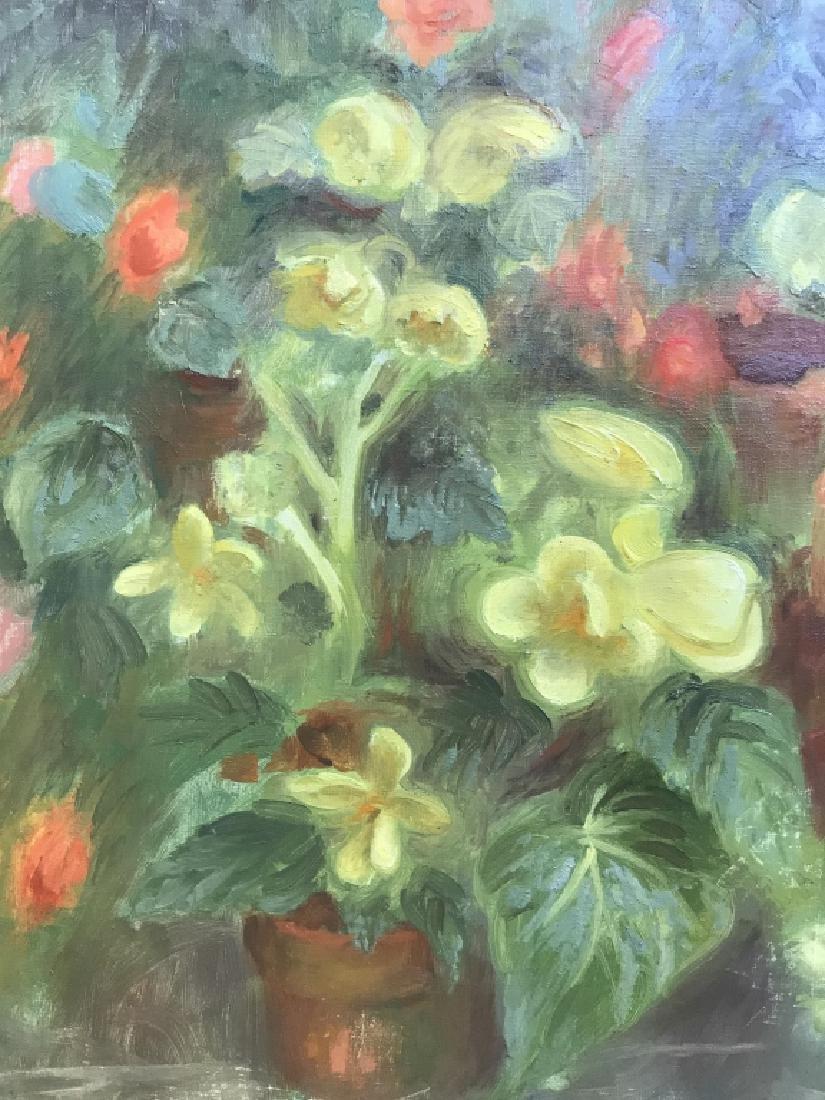 Cyril Gardner Framed Botanical Oil On Canvas - 4