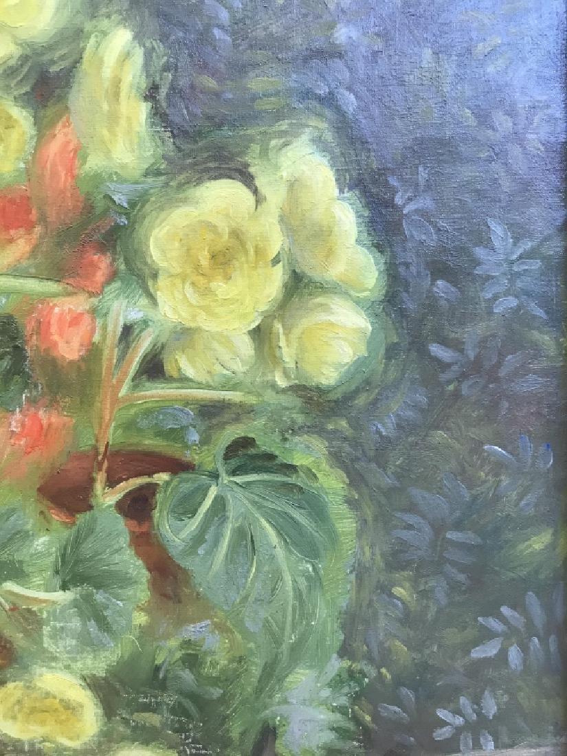 Cyril Gardner Framed Botanical Oil On Canvas - 8
