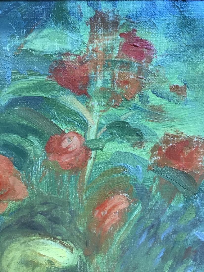 Cyril Gardner Framed Botanical Oil On Canvas - 9