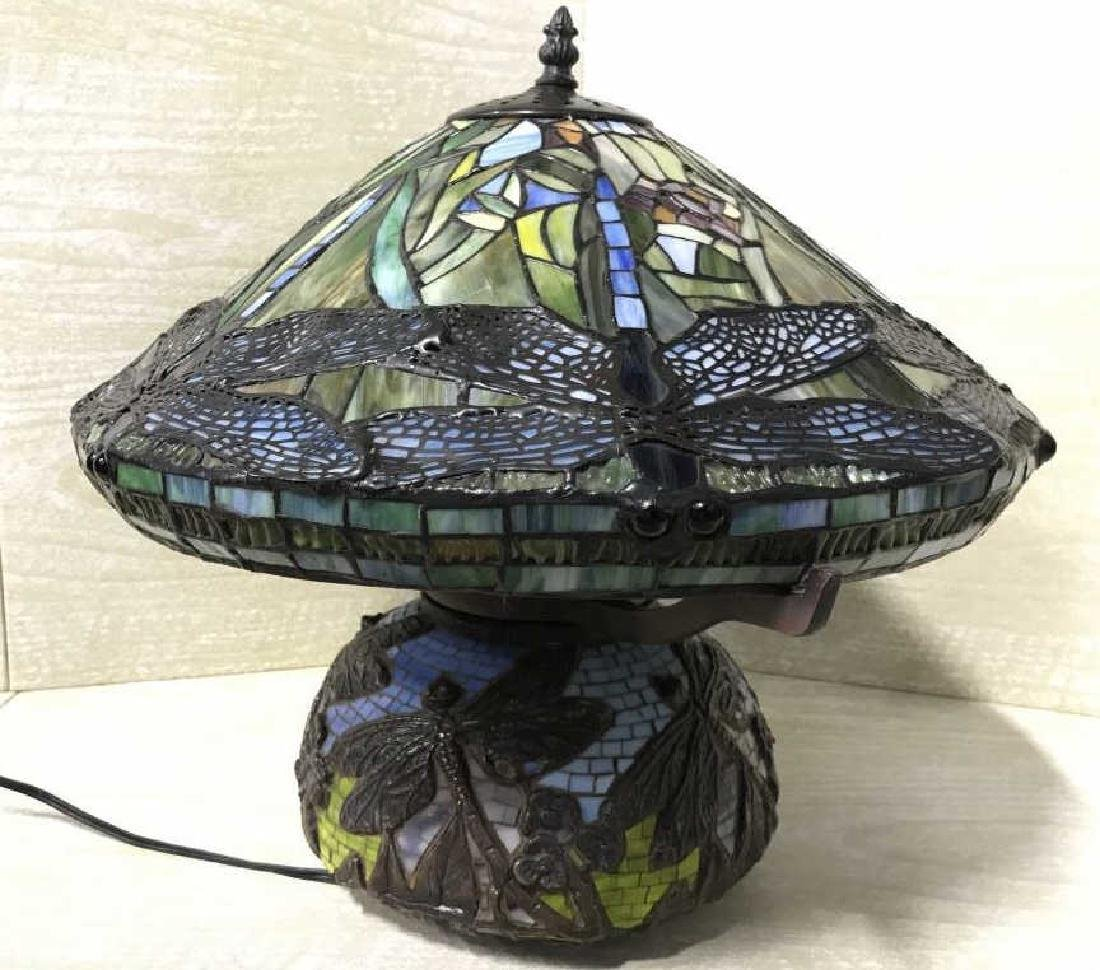 Intricately Detailed Stained Glass Tiffany StyLamp