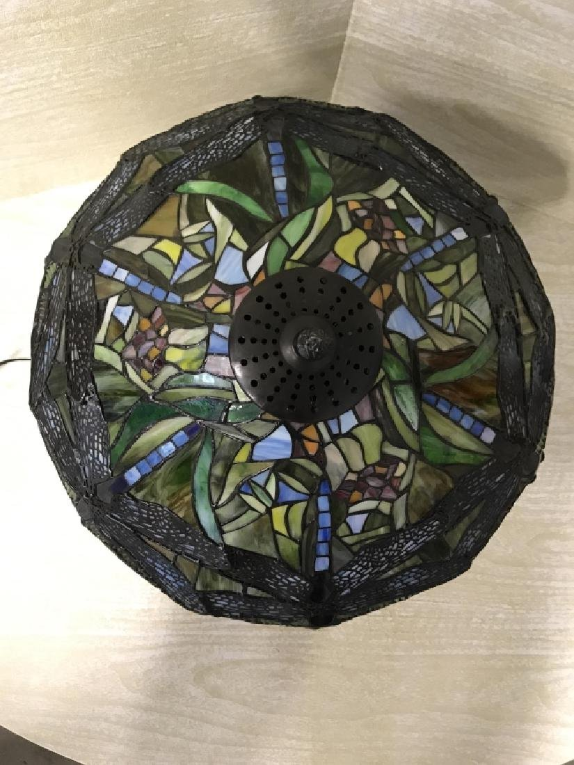 Intricately Detailed Stained Glass Tiffany StyLamp - 3