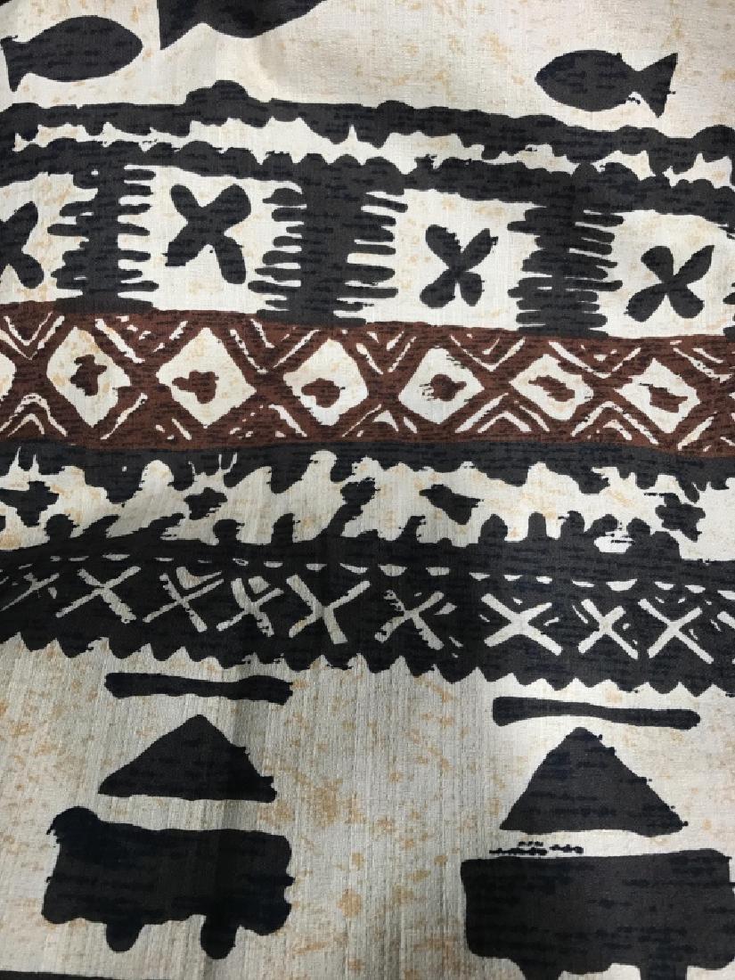 Mid Century Hand Painted Fabric
