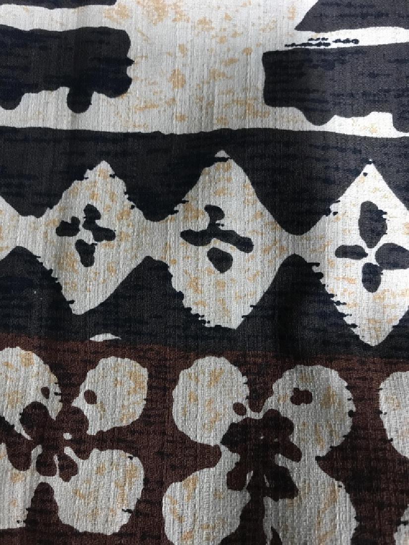 Mid Century Hand Painted Fabric - 2