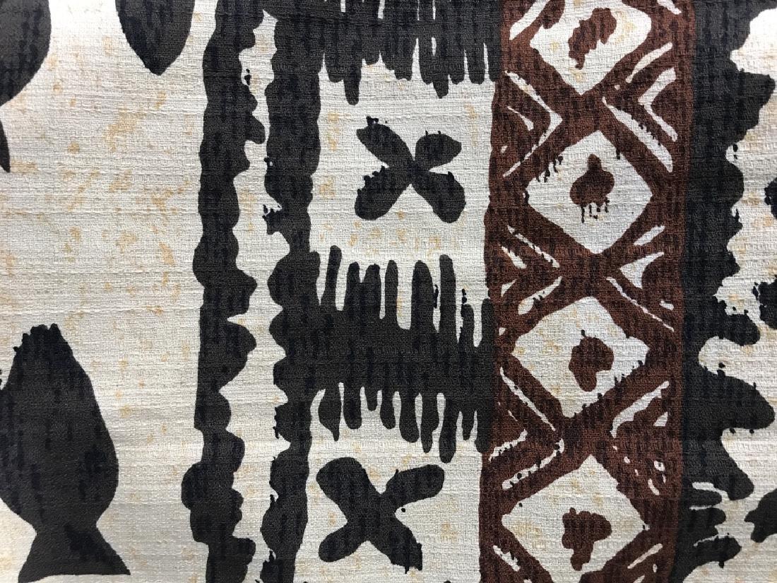 Mid Century Hand Painted Fabric - 5