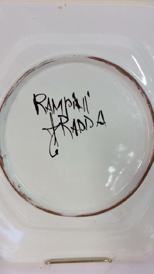 Set 4 RAMPINI RADDA Signed Ceramic Plates - 10